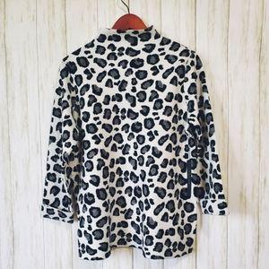 NWT Tahari sweater, L, leapord,